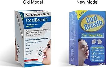CoziBreath Ultra Defensa Max Nasales Filtros Anti alergia Nariz Máscara Reducen Las Partículas de Contaminación Aérea, Polen, Polvo, Moho, Alérgenos de la Caspa, para el Alivio de Alergias