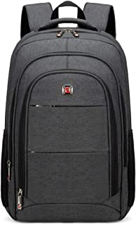 AUGUR Laptop Backpack, Travel Backpack Computer Bag for Women and Men Anti Theft Water Resistant College School Bookbag Slim Business Backpack Fits 15.6 inch Laptop and Notebook (Black)