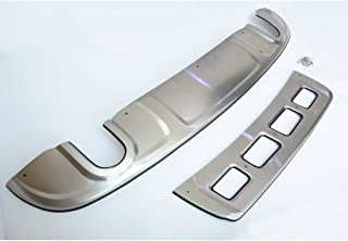 Liquor Car New for Audi Q5 2010-2012 NOT FIT Off-Road and Sport Model Stainless Steel Front+ Rear Bumper Protector Plate