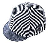 DEMU Baby Kleinkinder Fischerhut Strandhut Sommerhut Sonnenschutz Kappe Schirmmütze (Schiebermütze Blau, Hut Umfang 48cm)