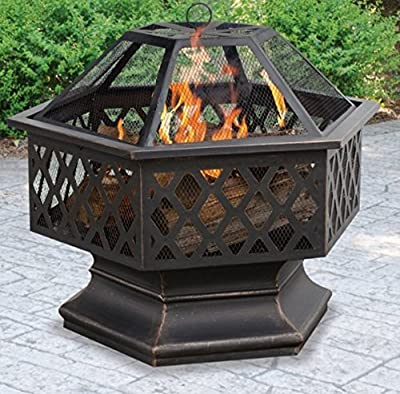 Amazon Com Zeny 32 Quot Outdoor Fire Pit Square Metal
