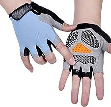 Fietshandschoenen Zomer Fietshandschoenen met Antislip Gel Pad Ademend Schokabsorberend Halfvinger Racehandschoenen voor M...