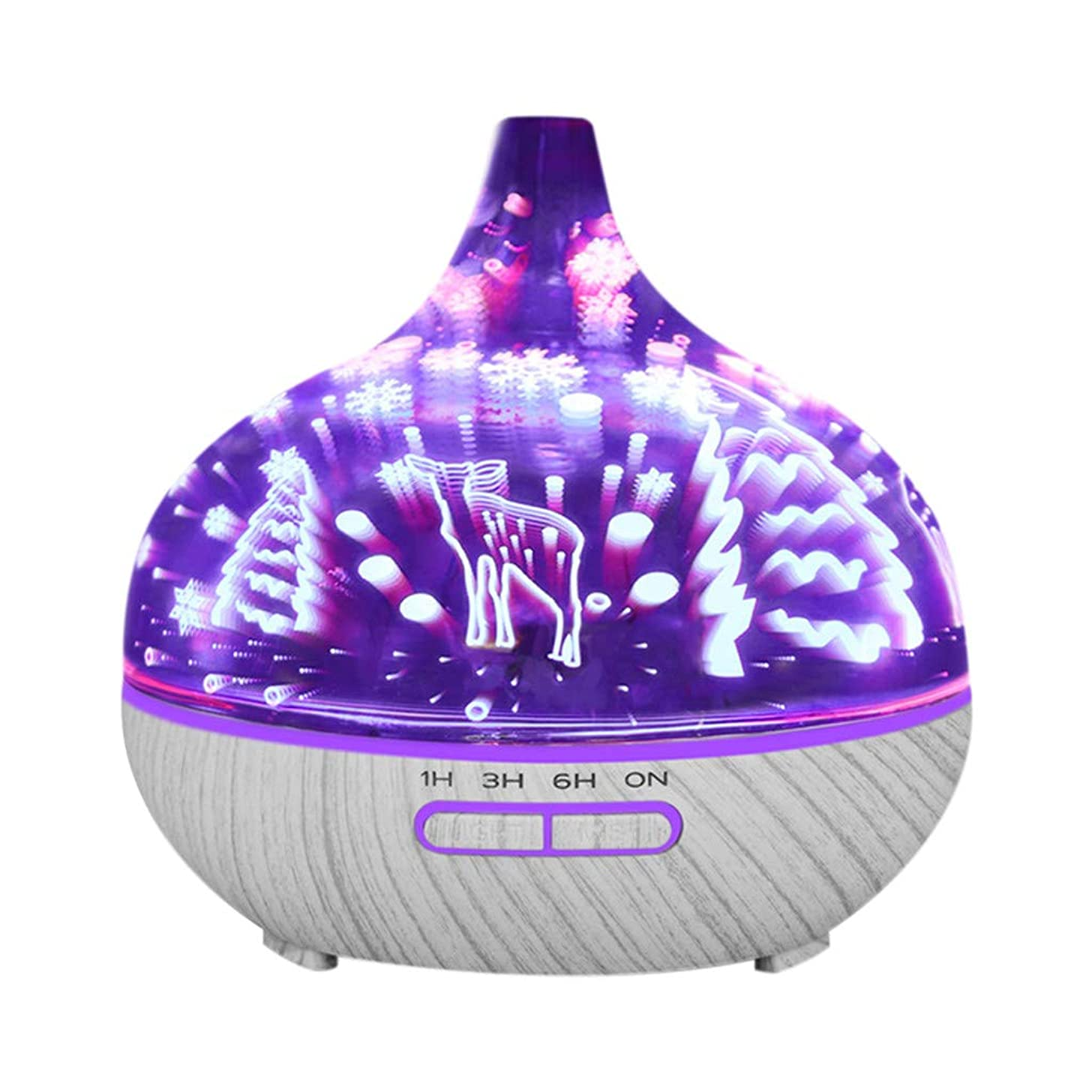 Ultrasonic Aroma Humidifier,3D Night Light Ultrasonic Aroma Diffuser Essential Oil Humidifier Aromatherapy,Essential Oil Diffuser Two Pack,C,16.5x16