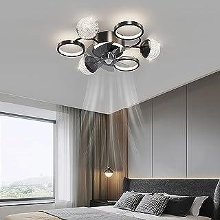 LED Omkeerbaar Plafondventilator Met Licht En Afstandsbediening 6 Snelheden Slaapkamer Dimbaar Plafondventilator Met Lamp ...
