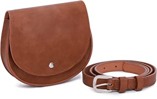 Women Small Purse Crossbody Bag Saddle Shoulder Bag Satchel Faux Leather Fanny Pack