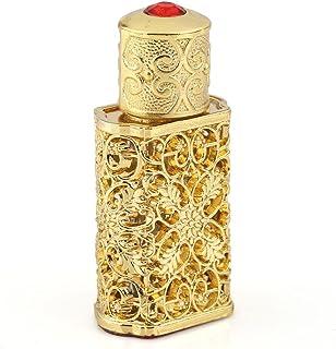 高品質 2ML 小型ガラスアロマボトル アロマオイル用瓶 香水瓶  綺麗欧風デザイン ゴールド プレゼント