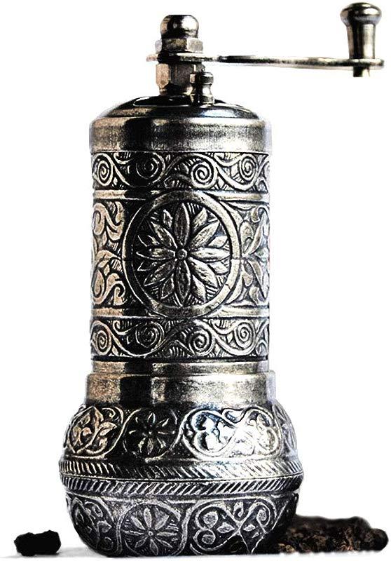 Bazaar Anatolia Pepper Mill Spice Grinder Pepper Grinder Turkish Grinder Dark Silver 4 2