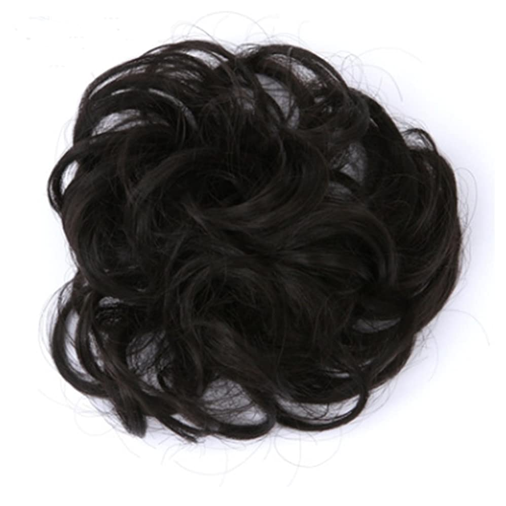 お風呂を持っている達成損失Koloeplf 3.5cm、30g化学繊維のヘアエクステンションピースナチュラルカラーカーリーヘアメッシーヘアリング直径 (Color : GS-Q52#)