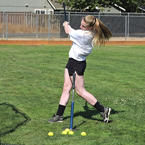 "Jugs T - Pro Style Batting Tee, Will Not Tip Over, 24"" - 46"" Adjustment Range for High and Low Tee Drills, Patented Grip-N-Go Handle, Always-Feel-The-Ball Flexible Top, 1-Year Guarantee"