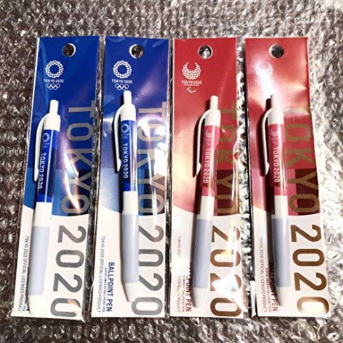 東京2020オリンピックパラリンピック 油性ボールペン 郵便局 4本セット