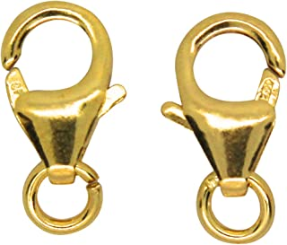 14K Gold Filled Oval Lobster Claw Trigger Clasp With Open Jump Ring, 10 x 6mm pack of 2Pcs