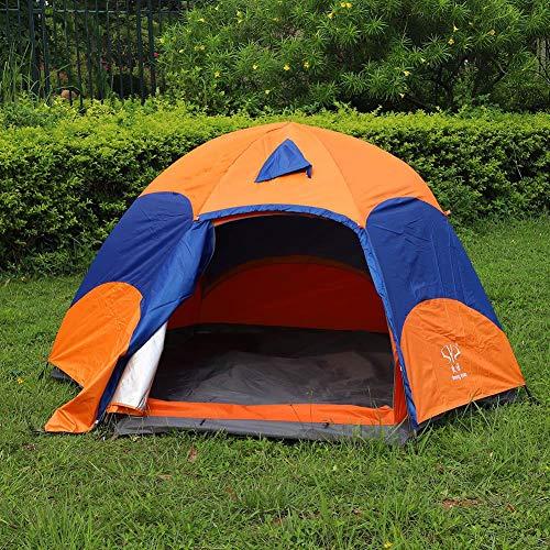 Eboxer 5–8Outdoor Hexagon tenda doppio strato Mongolische jurte con zanzariera per campeggio pesca Picnic