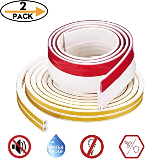 """Insulation Weatherproof Doors and Windows Soundproofing Seal Strip with Collision Avoidance Rubber Self-Adhesive Weatherstrip (16ft Weatherstrip + 39""""Bottom Seal)"""