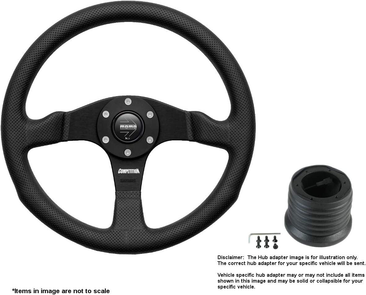 MOMO Competition 350mm 13.78 Inches Wheel Sales results No. 1 Steering Max 48% OFF Leather w B