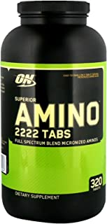 Superior Amino 2222 mg Full Spectrum Blend Micronized Aminos Tabs and Hydrolyzed Protein Concentrate 320 Tablets