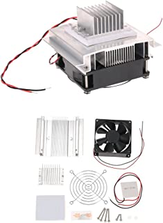 KKmoon Bricolaje Termoeléctrico Refrigeración Kit Refrigerador Módulo de Conducción + Radiador + Ventilador + TEC1-12706