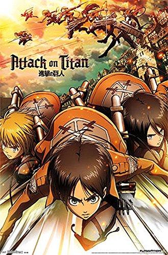 Close Up Poster Attack on Titans L'Attaque des Titans (61cm x 91,5cm) + Un Joli Emballage Cadeau