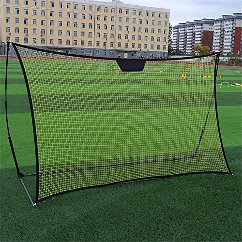 ZAIHW Soccer Goal Portable Bow Style Net | Collapsible Metal Base | Durable Vertical Posts | Quick Setup Easy Folding Storage