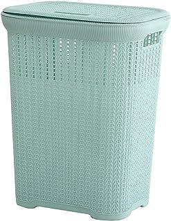 Grand plastique carré en plastique, ressemblant à la buanderie sale avec couvercle, grande capacité Chambre à coucher à la...