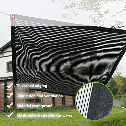 YUDEYU Schatten Regenfest Auf Beiden Seiten Verwenden Dach Balkon Schattierungsnetz (Color : Black/White, Size : 2x2.5m)