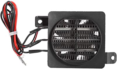 GLOGLOW PTC Car Air Heater, Constant Temperature PTC Fan Small Space Fan Heater for Incubator Car (12V 150W)