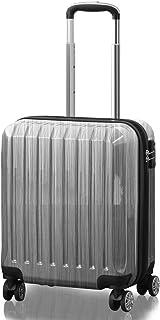 FIELDOOR TSAロック搭載スーツケース [STRAIGHT NEO] ダブルキャスター 鏡面ヘアライン仕上げ トラベルキャリーケース リブ構造 ポリカーボ樹脂 軽量 耐衝撃 長期旅行