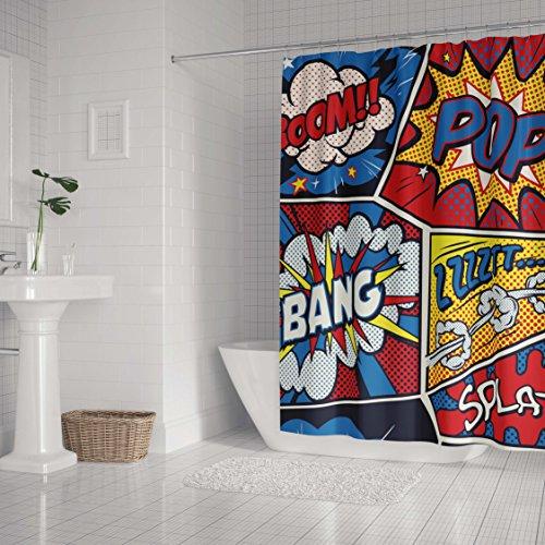 Pop Art Retro Comic Shower Curtain