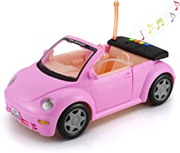 Convertible Car for Dolls (Great for Dolls), Glittering Magenta Convertible Doll Vehicle..
