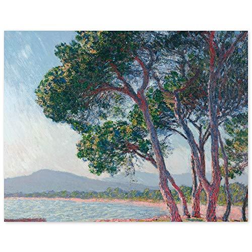 JUNIWORDS Poster, Claude Monet, Der Strand von Juan-les-Pins, 76 x 60 cm