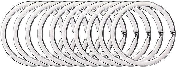 BSTHP Sleutelhangers, 10Packs Ronde metalen Split Ring voor Huishoudelijke Auto Sleutels Organisatie en Craft Making, Zilv...