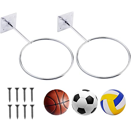 Stainless Steel Football Display Stand Holder Wall Mount Sports Ball Rack Shelf