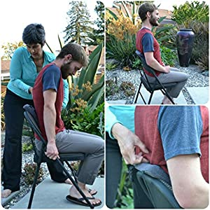 Stretchsit Cushion - Gokhale Method - Lumbar Support/backrest for Chairs/car Seats - Spinal Traction / Decompression for Relief from Lower Back Pain, Neck Pain, Shoulder Pain, Fibromyalgia