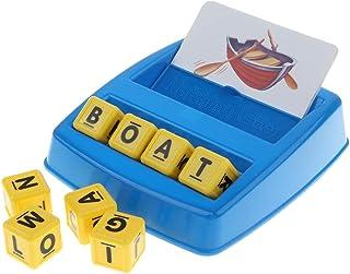 Homyl Preschool Educational Learning Matching Letter Game,Alphabet Letter Word Spelling Game Spell Words Board Game for Kids 3 Years & Up