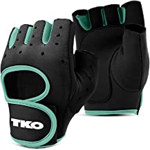 TKO Workout Gloves with Non-Slip Padded Grips - for Gym, Fitness, Exercise, Lifting, Crossfit - Available with Breathable ...