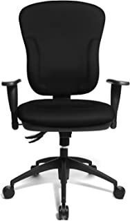 Topstar Wellpoint 30 Comfortable Office Swivel Chair with Convenient Moulded Upholstery Foam - Black