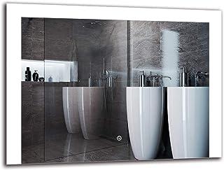 Espejo LED Deluxe - Dimensiones del Espejo 80x60 cm - Interruptor tactil - Espejo de baño con iluminación LED - Espejo de Pared - Espejo con iluminación - ARTTOR M1ZD-37-80x60 - Blanco frío 6500K