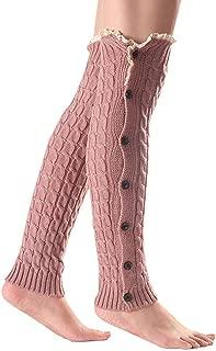 Screenes Damen Gestrickt Stulpen Vintage Beinlinge Stretch Bein Wärmen Rmer Mit Einfacher Stil Spitzen Herbst Winter Gemütlich