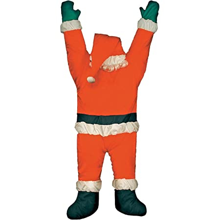 Christmas Hanging SANTA Suit On Gutter Roof Outdoor Decoration Life Size 5 FT