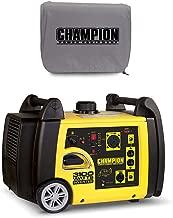 Champion 3100 Watt Portable Wireless Start Generator w/Vinyl Cover, Gray