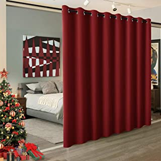 RYB HOME Light Block Curtain Divider Extra Wide Room Divide Curtain Separate Wall Shelves for Share Apartment for Nursery/Home Theatre/Storage/Studio/Office, W 15ft x L 8ft, 1 Panel