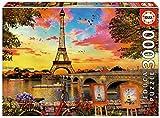 Educa- Puesta de Sol en París Puzzle, 3 000 Piezas, Multicolor (17675)