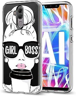 Funda Huawei Mate 20 Lite, Eouine Cárcasa Silicona 3D Transparente con Dibujos Diseño [Antigolpes] de Protector Bumper Case Cover Fundas para Movil Huawei Mate 20Lite - 6,3 Pulgadas (Girl Boss)