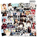 One Direction Stickers 52pcs Singer Vinyl Waterproof Laptop Harry Decals for Luggage Cars Bumpers Computers Funny Teens Adults Decor Art Merch