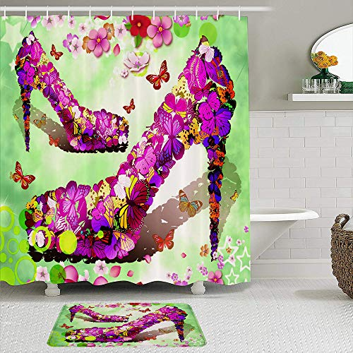 Waterproof Shower Curtain Set with Non-Slip Bathroom Mats,Widescreen Images Amazing Desktop Images Free Images Download Wallpapers Cool Stock,Decorative Bath Curtains with 12 Hooks,Soft Rugs