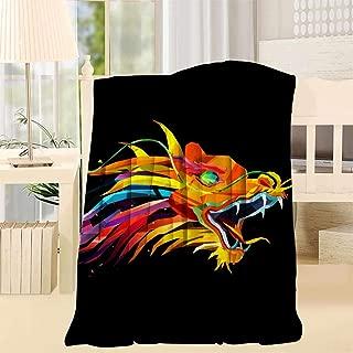 TATXINS Rainbow Super Soft Fuzzy Fleece Blanket Plush Polyester