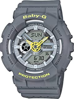 Casio Baby G Women BA110PP-8A Year-Round Analog-Digital Automatic Grey Watch
