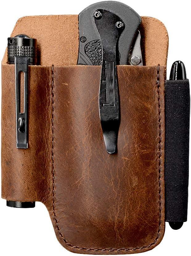 EDC Large discharge sale Leather Belt Knife Sheath 0.6