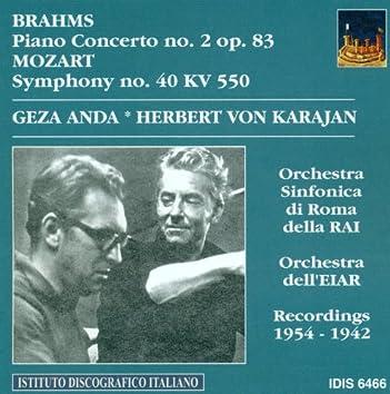 Mozart, W.A.: Piano Concerto No. 2 / Symphony No. 40 (Anda) (1942, 1954)