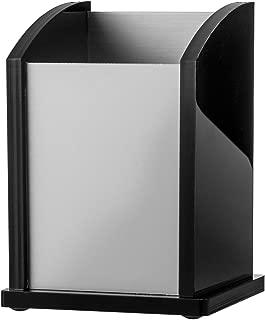 Kantek Black Acrylic and Aluminum Pen Cup, 3-Inch Wide x 3-Inch Deep x 4.25-Inch High (BA320)