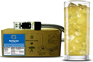 Roaring Lion energy drink (1 Gallon Bag-in-Box Syrup Concentrate) - Box Pours 6 Gallons of Energy Drink - Use with Bar Gun, Soda Fountain or SodaStream